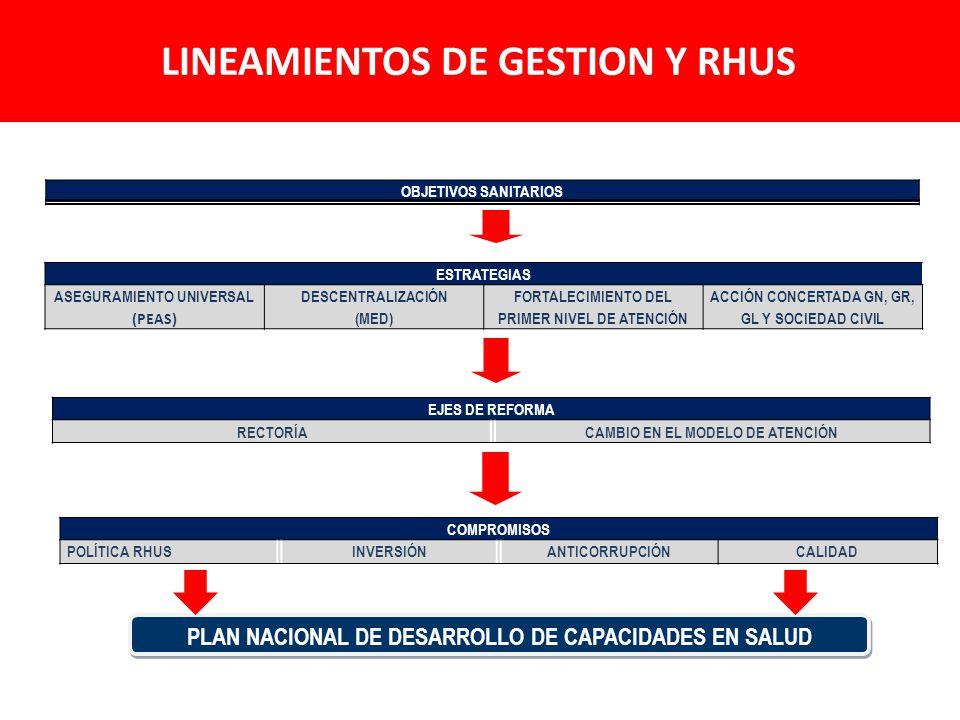 Políticas de largo plazo y conformación de una unidad de conducción estratégica de RHUS.