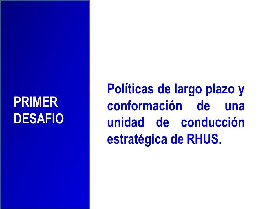 Políticas de largo plazo y conformación de una unidad de conducción estratégica de RHUS. PRIMER DESAFIO