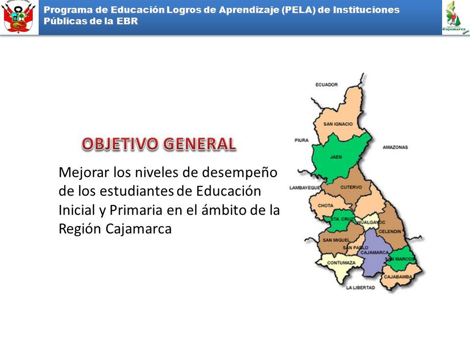 Mejorar los niveles de desempeño de los estudiantes de Educación Inicial y Primaria en el ámbito de la Región Cajamarca