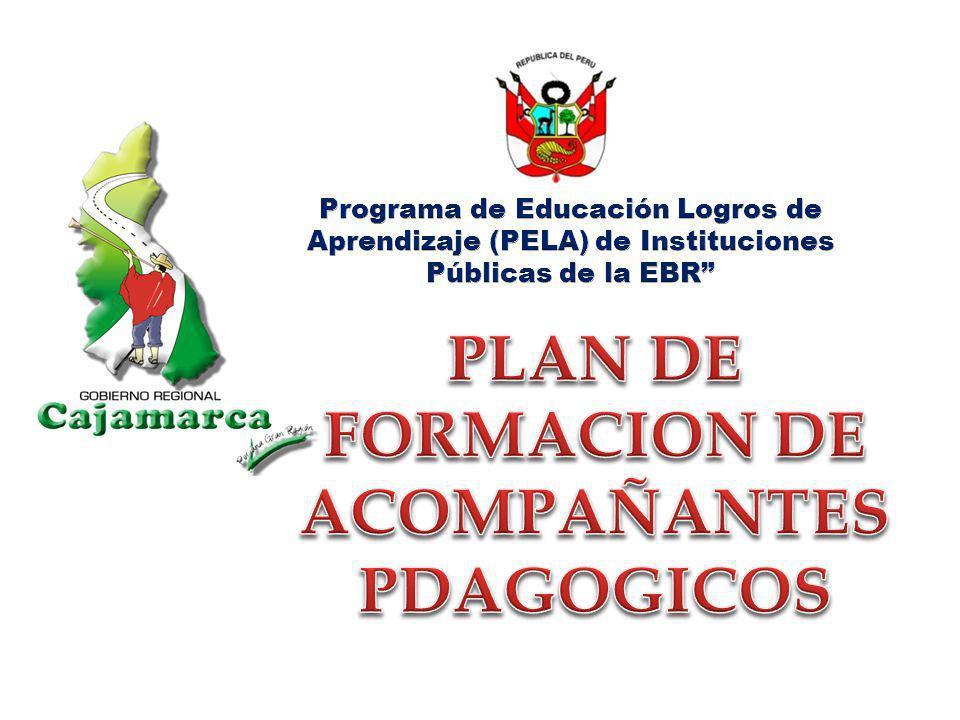 LA ESCUELA QUE QUEREMOS El Programa de Educación Logros de Aprendizaje – PELA en Cajamarca, procura una escuela de gestión educativa formadora, acogedora y centrada en los aprendizajes, defensora de la vida, que promueve la equidad como principio fundamental de su accionar, con práctica permanente de valores como la solidaridad, igualdad, libertad, democracia y patriotismo, donde la base de los aprendizajes sea el saber popular, la tradición y la identidad, con docentes que articulan la teoría con la práctica, el estudio con la vida y la investigación con la acción