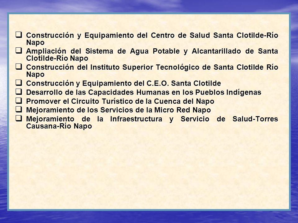 Construcción y Equipamiento del Centro de Salud Santa Clotilde-Río Napo Construcción y Equipamiento del Centro de Salud Santa Clotilde-Río Napo Amplia