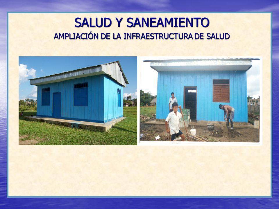 SALUD Y SANEAMIENTO AMPLIACIÓN DE LA INFRAESTRUCTURA DE SALUD