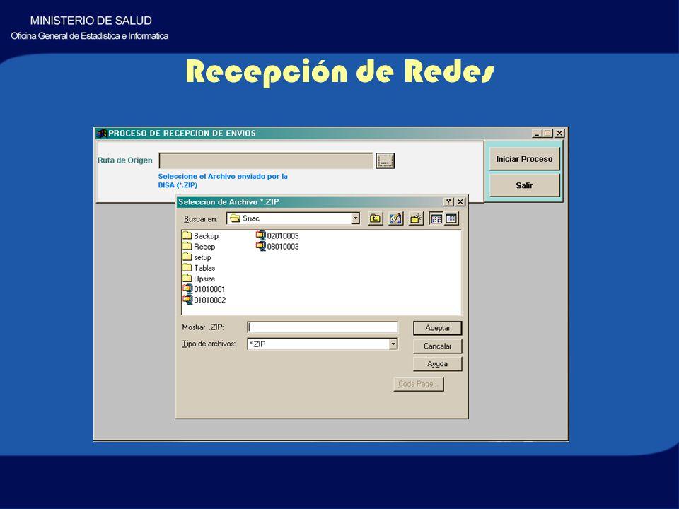 Recepción de Redes