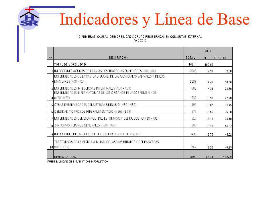 Indicadores y Línea de Base 10 PRIMERAS CAUSAS DE MORTALIDAD HOSPITALARIA EN ADULTO (20-59 AÑOS) AÑO 2010 HOSPITAL SANTA ROSA DE PUERTO MALDONADO N°DESCRIPCION2010%F.