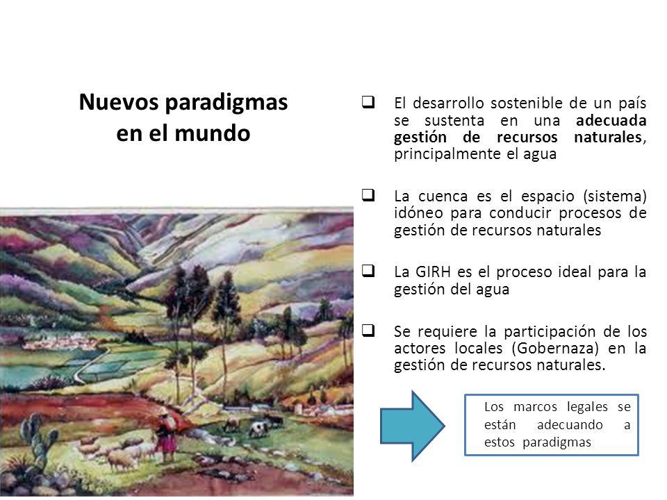 El desarrollo sostenible de un país se sustenta en una adecuada gestión de recursos naturales, principalmente el agua La cuenca es el espacio (sistema