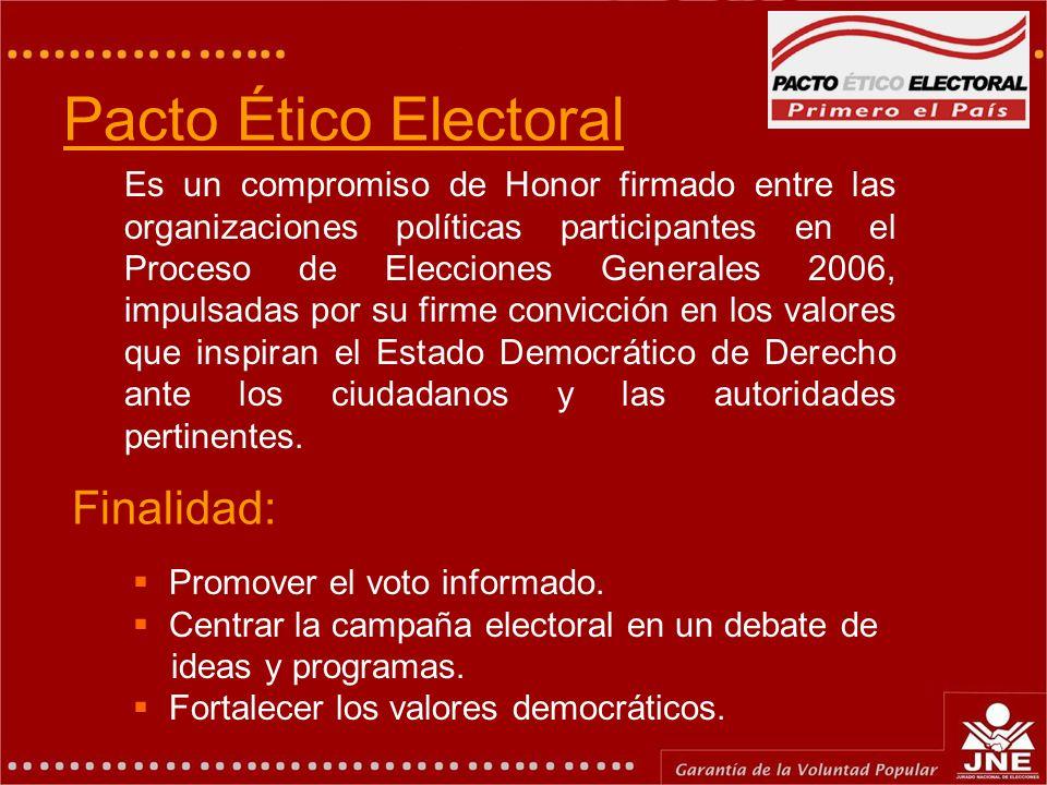 Antecedentes La Idea nació en el Pacto Ético Electoral (28 abril 2005). Esta iniciativa fue tomada por el Congreso de la República. Ley Nº 28624 (18 N