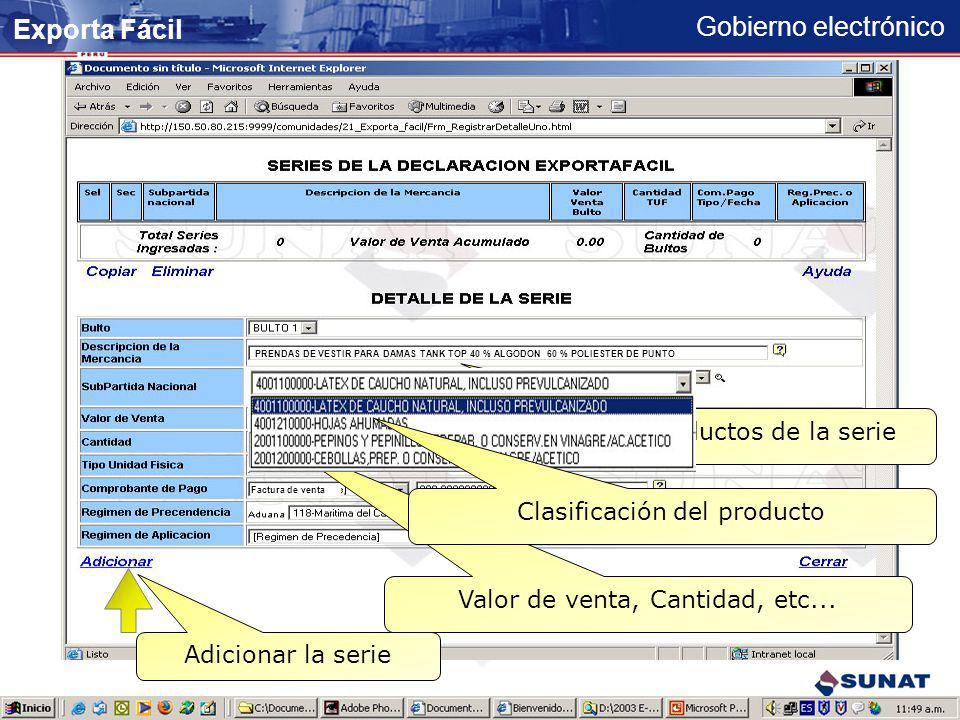 Gobierno electrónico Datos registrados del contribuyente Digitar datos adicionales JUAN ALBERTO PEREZ DE CASTILLA 2 Juan_castillo@hotmail.com JUAN ALB
