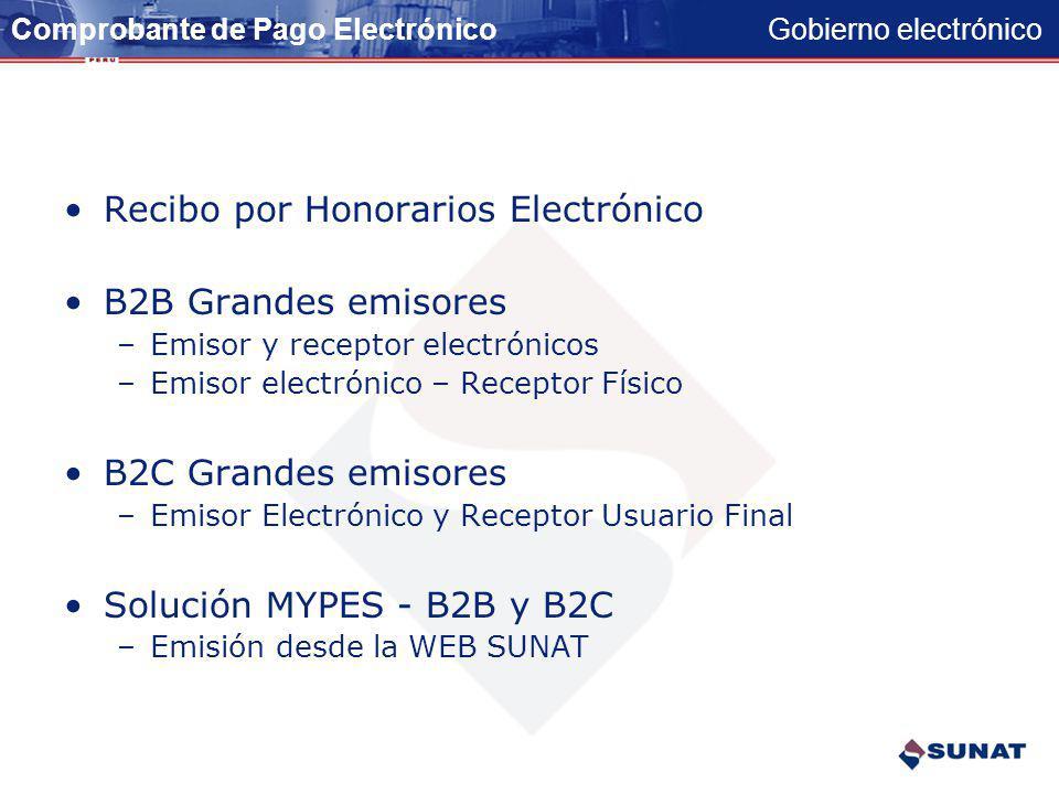 Gobierno electrónico COMPROBANTES DE PAGO Y LIBROS CONTABLES ELECTRÓNICOS