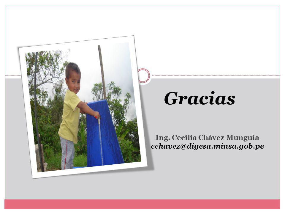 Gracias Ing. Cecilia Chávez Munguía cchavez@digesa.minsa.gob.pe