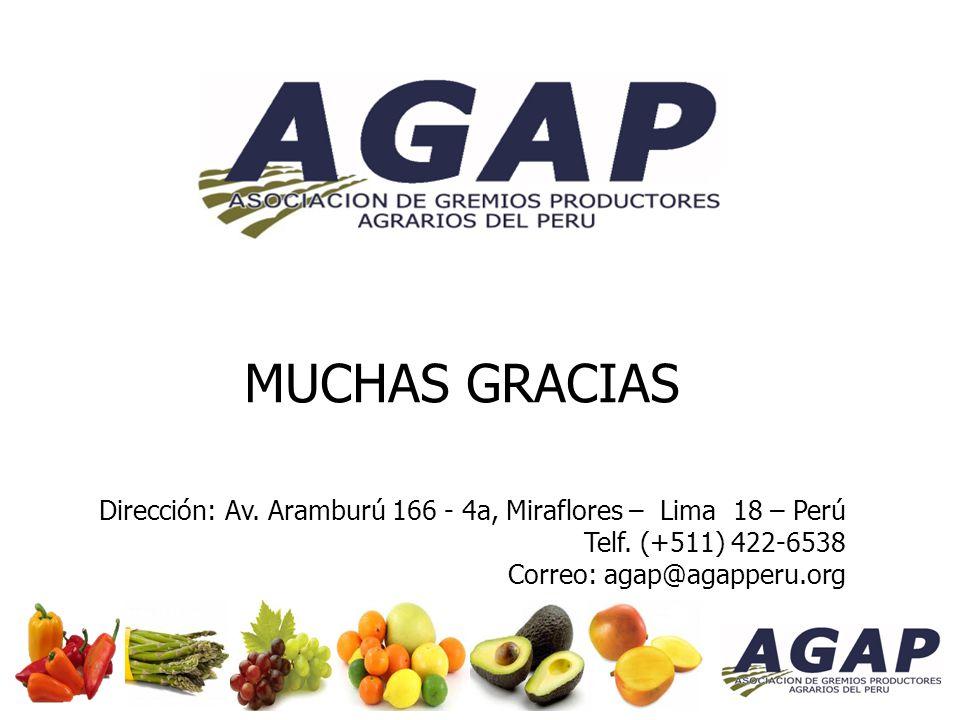 MUCHAS GRACIAS Dirección: Av. Aramburú 166 - 4a, Miraflores – Lima 18 – Perú Telf.