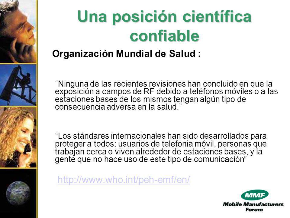 Importancia de la Armonización UIT/OMC/OMS Credibilidad interna y externa - Base en recomendaciones de una organización científica independiente y de credibilidad reconocida por la comunidad científica internacional.