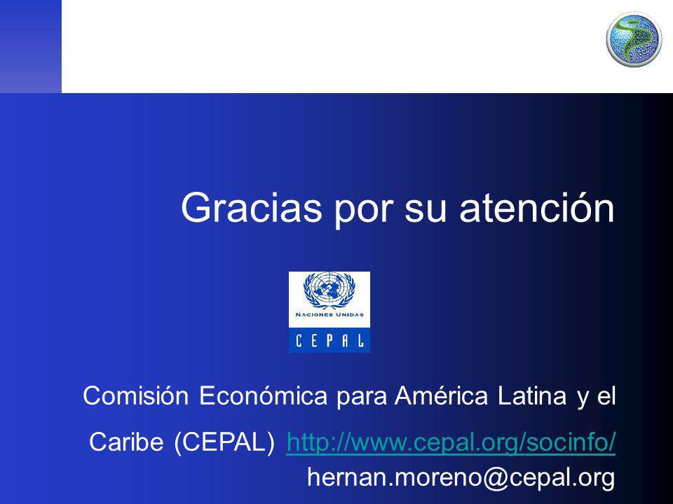 43 Gracias por su atención Comisión Económica para América Latina y el Caribe (CEPAL) http://www.cepal.org/socinfo/ hernan.moreno@cepal.org http://www