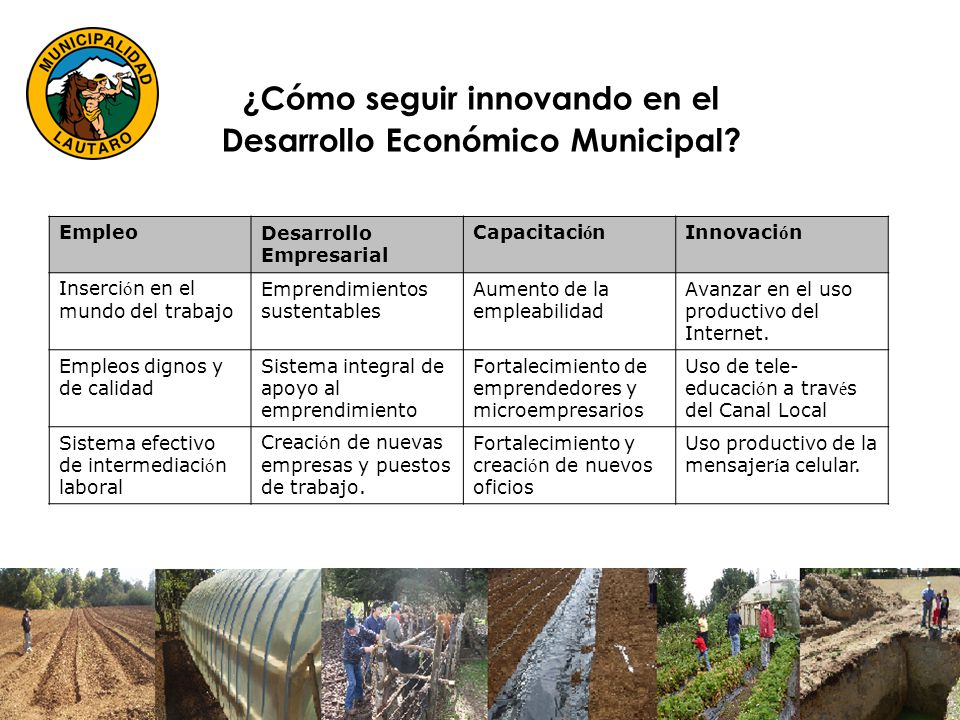 ¿Cómo seguir innovando en el Desarrollo Económico Municipal.