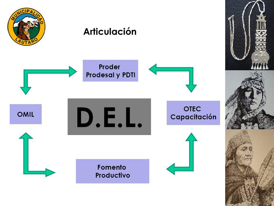 Fomento Productivo OMIL OTEC Capacitación Proder Prodesal y PDTI Articulación D.E.L.