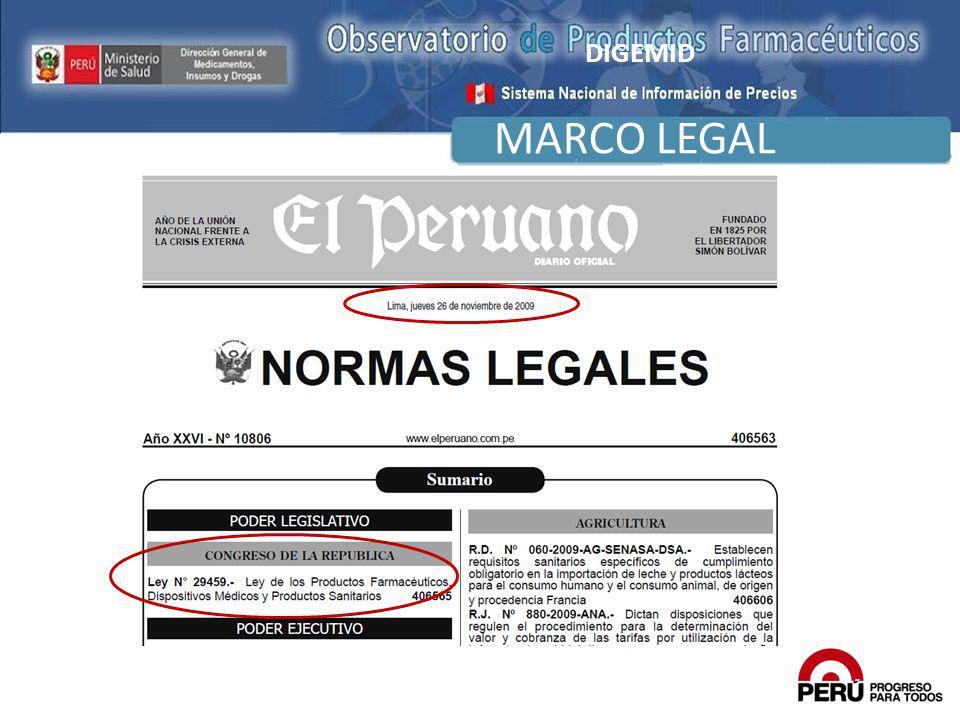MARCO LEGAL DIGEMID