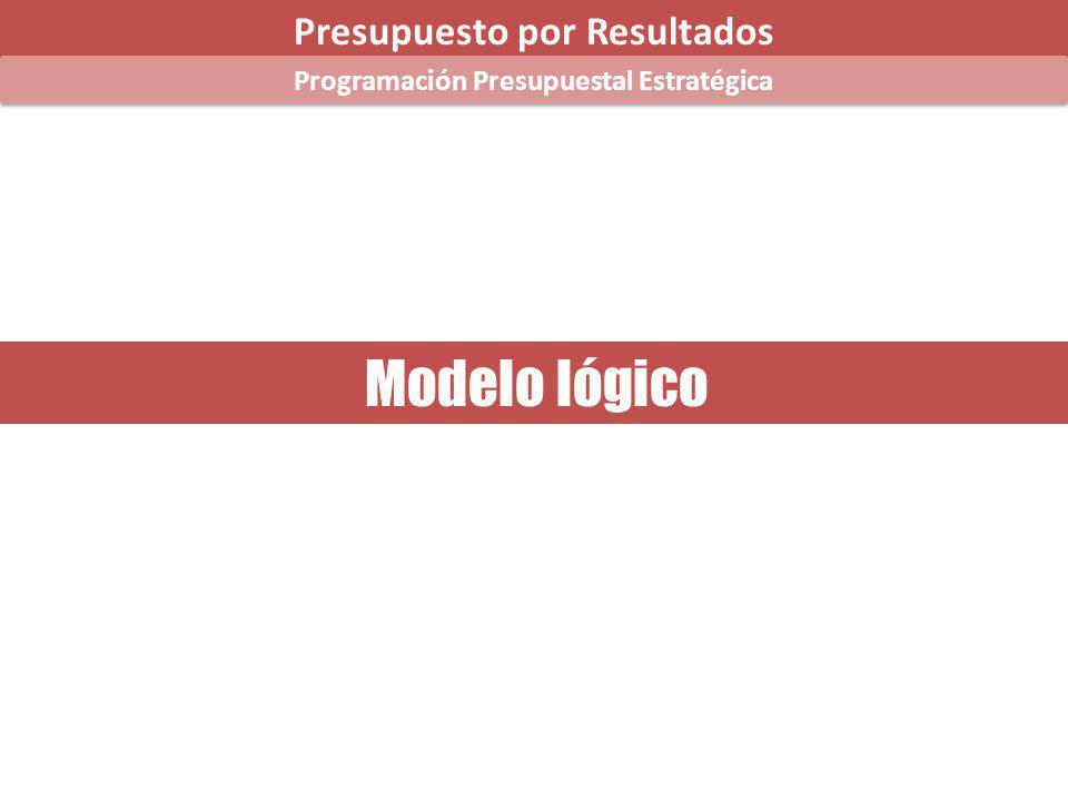 Modelo lógico Presupuesto por Resultados Programación Presupuestal Estratégica