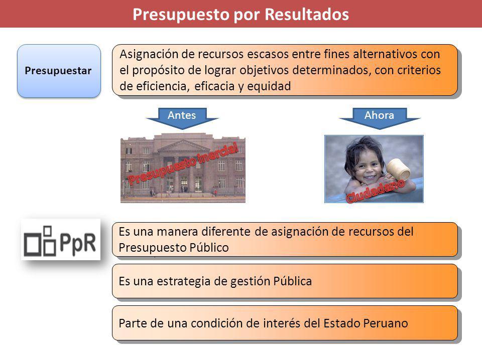 Presupuesto por Resultados El resultado de los productos son los ejes centrales y detrás del resultado el ciudadano El resultado de los productos son los ejes centrales y detrás del resultado el ciudadano El ciudadano es el motor de las decisiones que se toma.