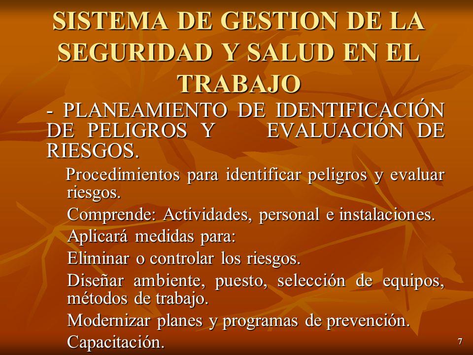 7 - PLANEAMIENTO DE IDENTIFICACIÓN DE PELIGROS Y EVALUACIÓN DE RIESGOS.