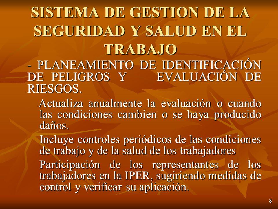 8 - PLANEAMIENTO DE IDENTIFICACIÓN DE PELIGROS Y EVALUACIÓN DE RIESGOS.