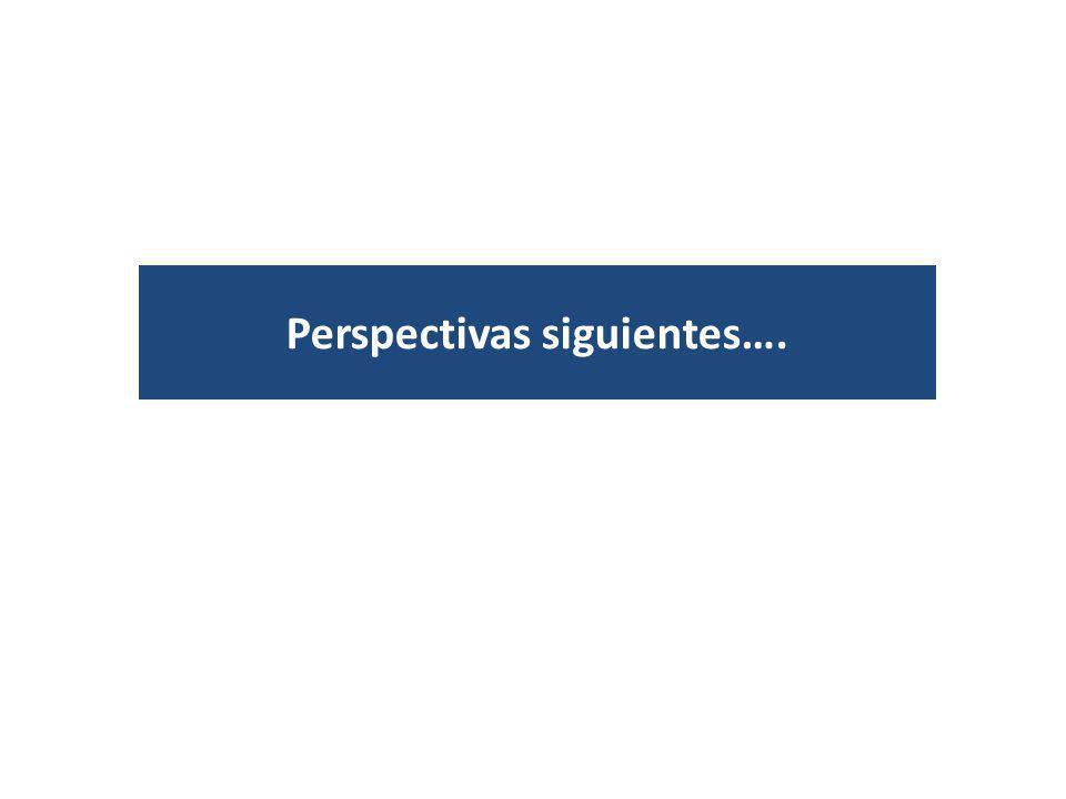 Perspectivas siguientes….