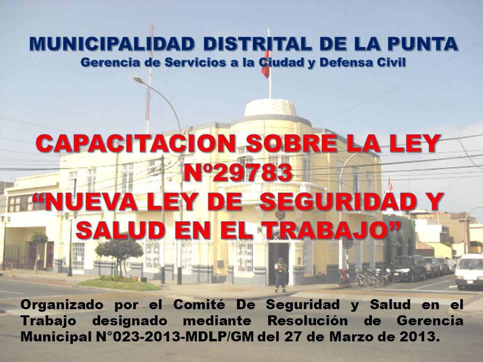Organizado por el Comité De Seguridad y Salud en el Trabajo designado mediante Resolución de Gerencia Municipal N°023-2013-MDLP/GM del 27 de Marzo de 2013.