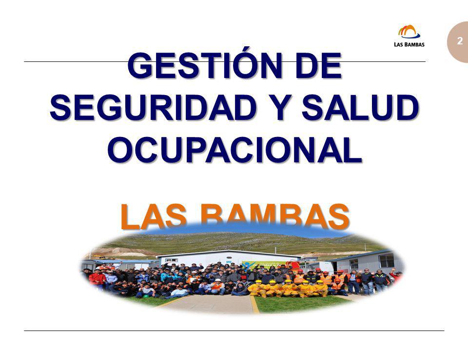 2 Trabajos de Alto Riesgo Las Bambas ha identificado 11 trabajos que son considerados de Alto Riesgo, debido al riesgo inherente y a la exposición de los trabajadores involucrados.