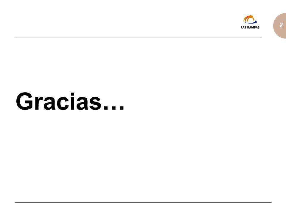 2 Gracias…