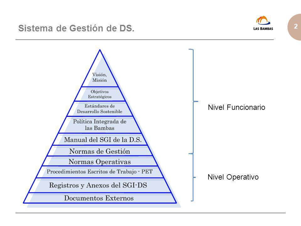 2 Sistema de Gestión de DS. Nivel Funcionario Nivel Operativo