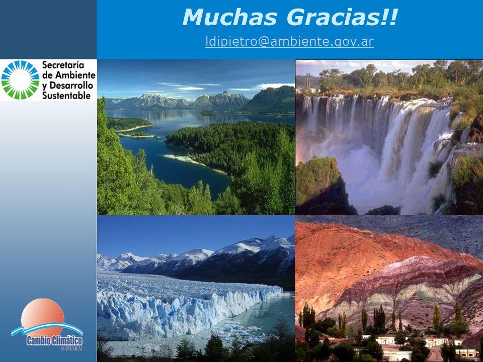 Muchas Gracias!! ldipietro@ambiente.gov.ar