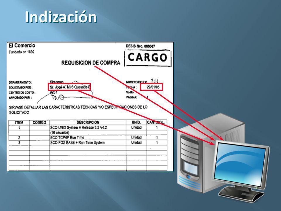 Métodos: Manual (Teclado) OCR (Optical Carácter Recognition) ICR (Intelligent Character Recognition) OMR (Optical Marks Recognition) IMR (Intelligent Magnetic Recognition) BCR (Barcode Recognition)