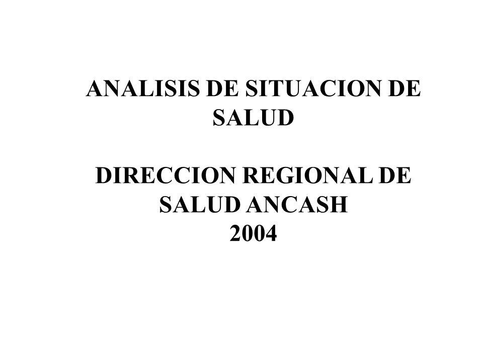 ANALISIS DE SITUACION DE SALUD DIRECCION REGIONAL DE SALUD ANCASH 2004