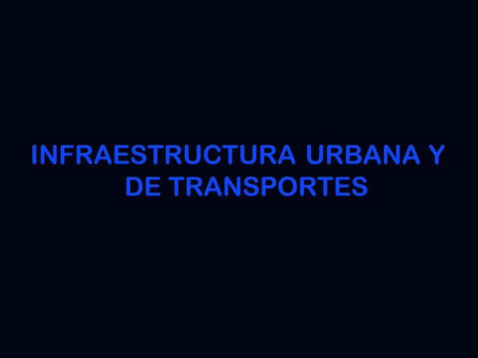 INFRAESTRUCTURA URBANA Y DE TRANSPORTES