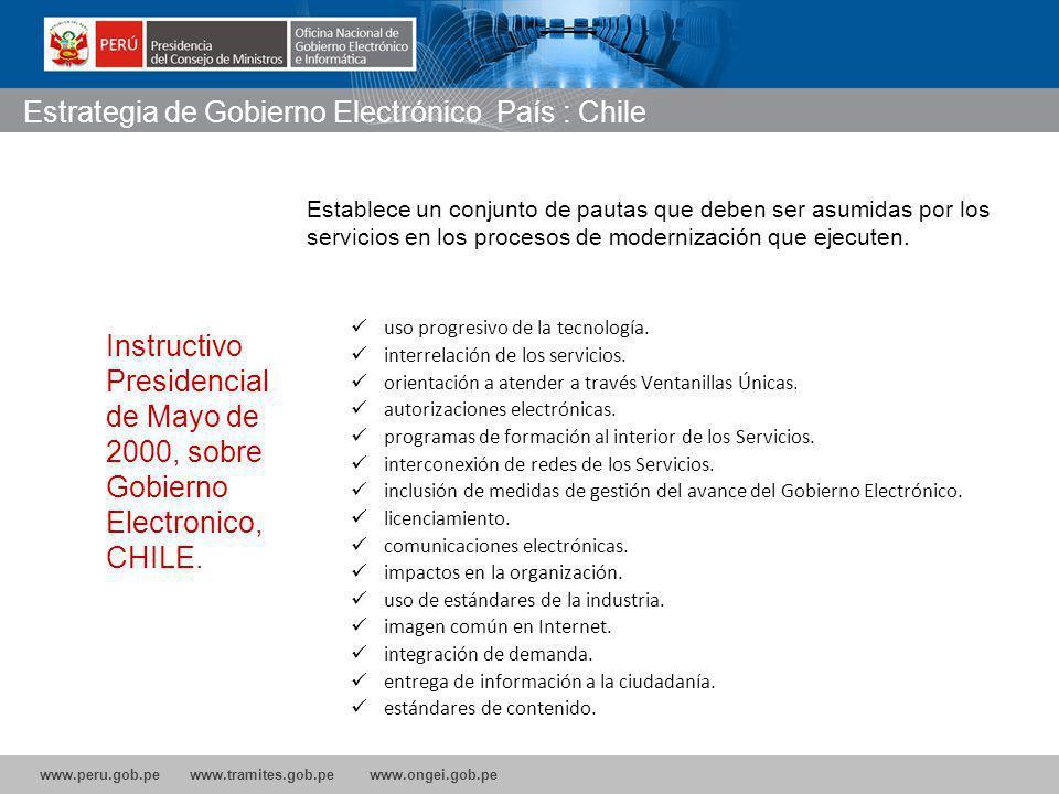 www.peru.gob.pe www.tramites.gob.pe www.ongei.gob.pe uso progresivo de la tecnología.