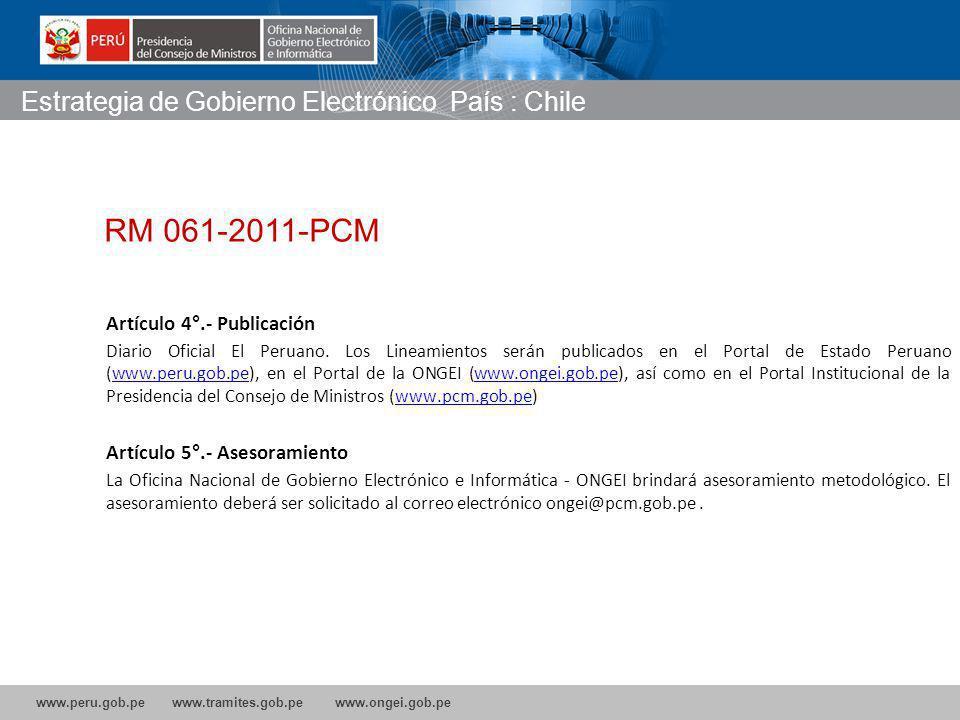 www.peru.gob.pe www.tramites.gob.pe www.ongei.gob.pe Artículo 4°.- Publicación Diario Oficial El Peruano.