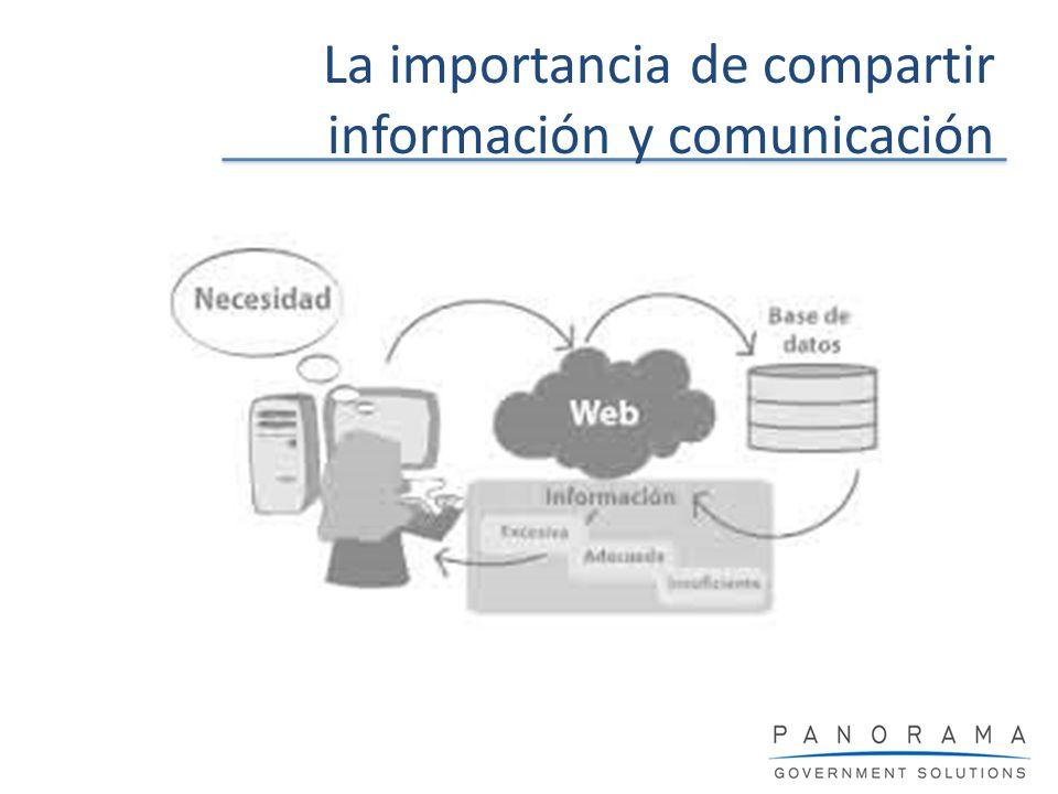La importancia de compartir información y comunicación