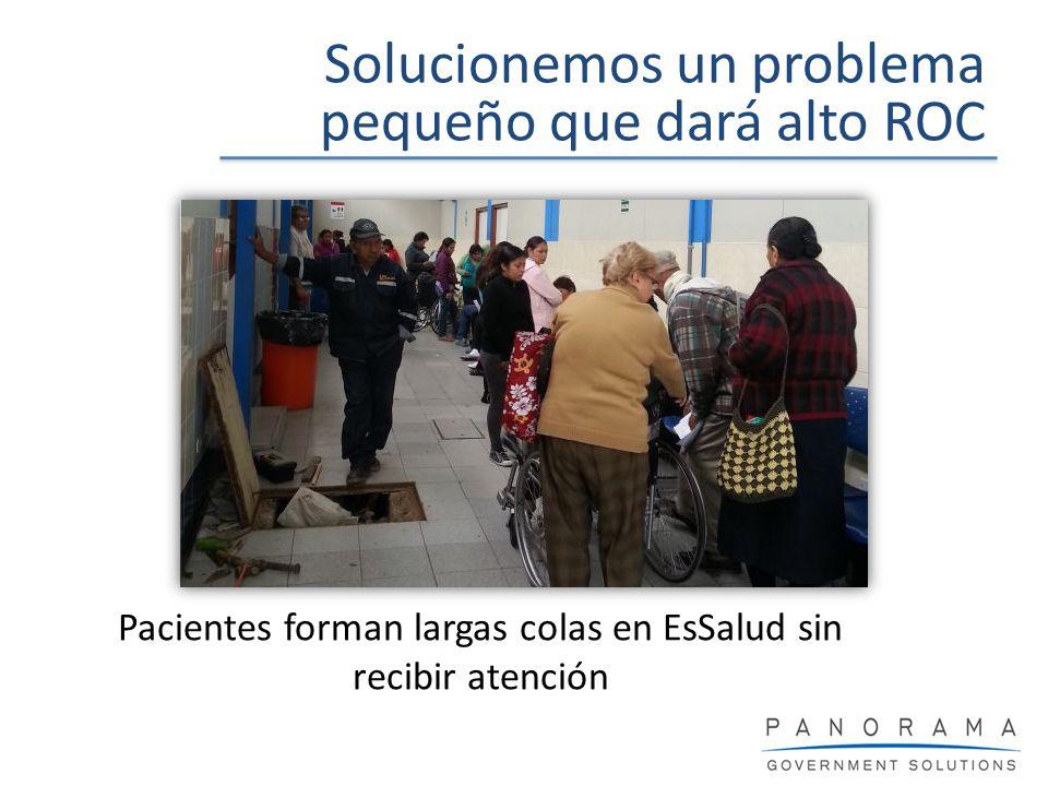 Pacientes forman largas colas en EsSalud sin recibir atención Solucionemos un problema pequeño que dará alto ROC