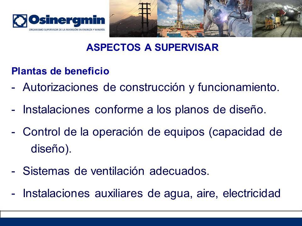 Plantas de beneficio -Autorizaciones de construcción y funcionamiento.