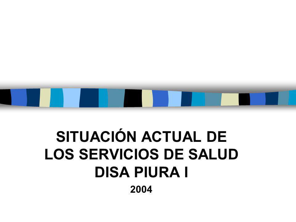 SITUACIÓN ACTUAL DE LOS SERVICIOS DE SALUD DISA PIURA I 2004