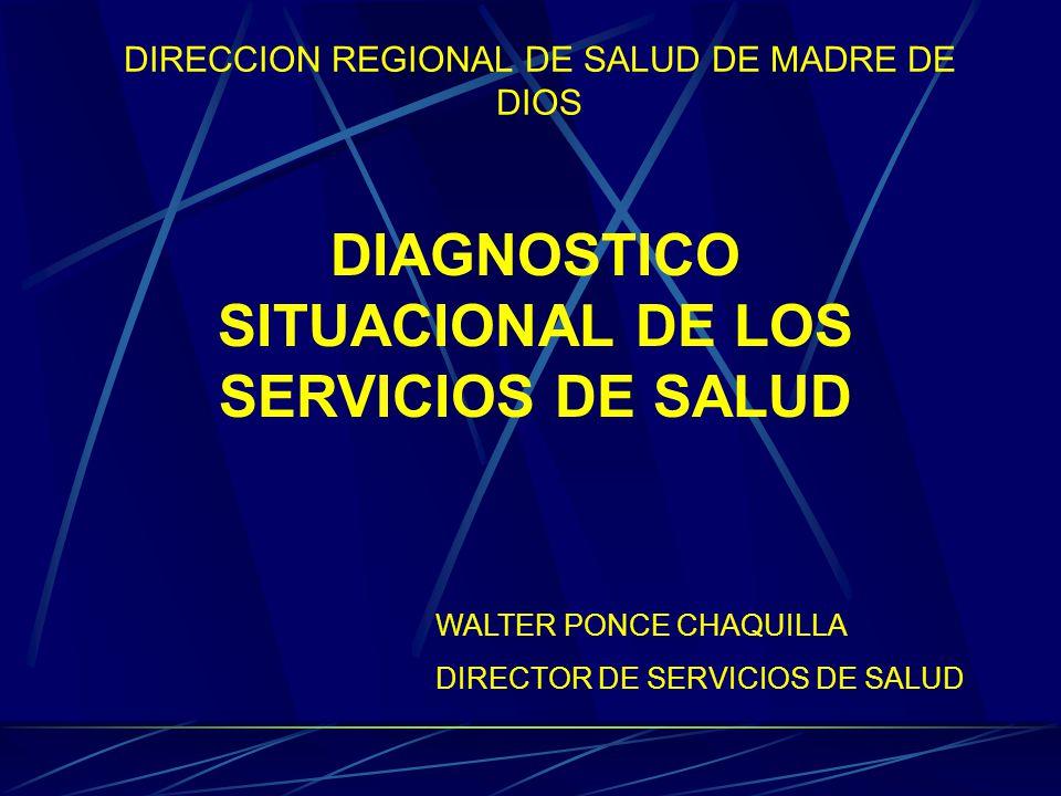 DESCRIPCION DE LA SITUACION DE SALUD Madre de Dios es un departamento bifronterizo con brasil y bolivia, con una poblacion de 104,787 hab.