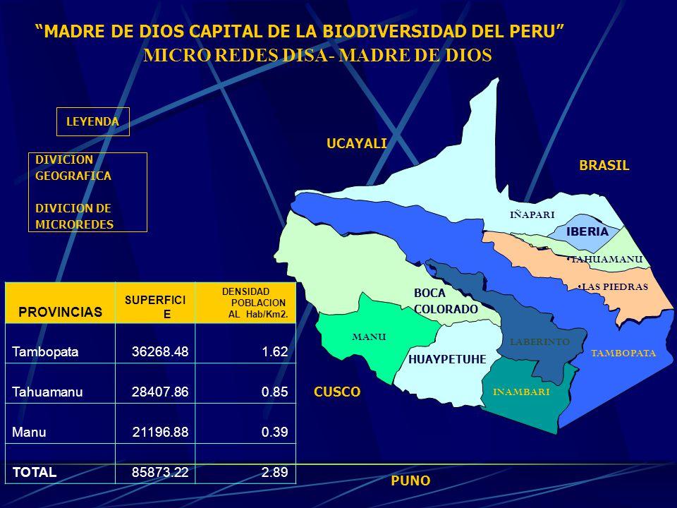 10 PRIMERAS CAUSAS DE MORBILIDAD GENERAL EN LA DISA –MADRE DE DIOS AL 1° SEMESTRE 2004 1- INFECCIONES AGUDAS DE LAS VIAS RESPIRATORIAS SUPERIORES15349 2- ENFERMEDADES DE LA CAVIDAD BUCAL, DE LAS GLANDULAS SALIVALES Y DE LOS MAXILARES 11893 3- ENFERMEDADES INFECCIOSAS INTESTINALES8980 4- MICOSIS5092 5- INFECCIONES DE LA PIEL Y DEL TEJIDO SUBCUTANEO4725 6- HELMINTIASIS3138 7- SINTOMAS Y SIGNOS GENERALES2973 8- OTRAS INFECCIONES AGUDAS DE LAS VIAS RESPIRATORIAS INFERIORES 2411 9- OTRAS ENFERMEDADES DEL SISTEMA URINARIO2386 10- DORSOPATIAS2237