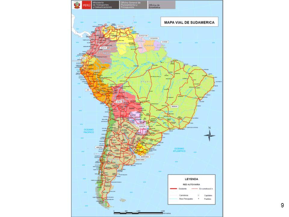 Red Vial Nacional y principales carreteras nacionales