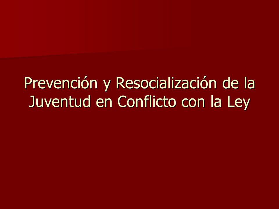 Prevención y Resocialización de la Juventud en Conflicto con la Ley