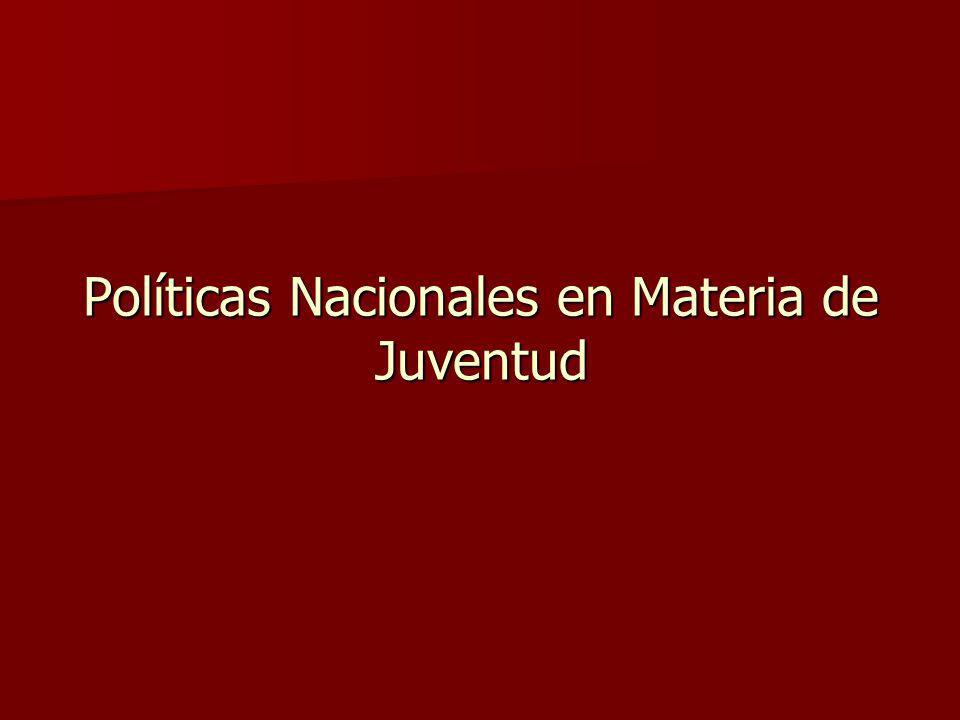 Políticas Nacionales en Materia de Juventud