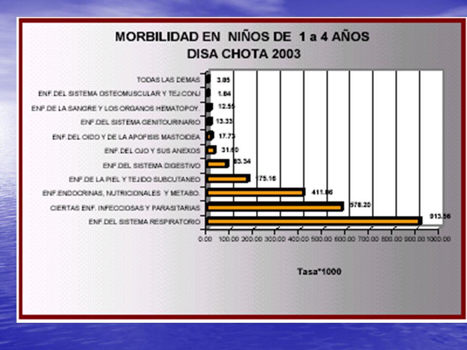 CAMAS HOSPITALARIA EN FUNCIONAMIENTO POR 1000 HABITANTES DISA CAJAMARCA II CHOTA 2003