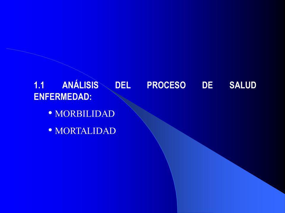 1.1ANÁLISIS DEL PROCESO DE SALUD ENFERMEDAD: MORBILIDAD MORTALIDAD