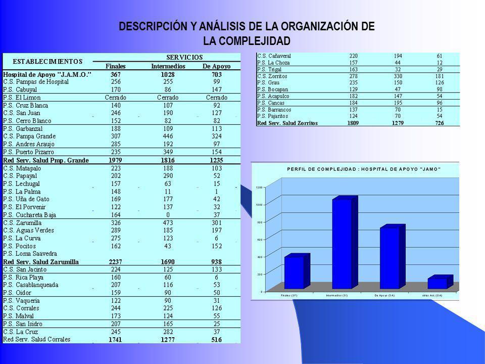 DESCRIPCIÓN Y ANÁLISIS DE LA ORGANIZACIÓN DE LA COMPLEJIDAD
