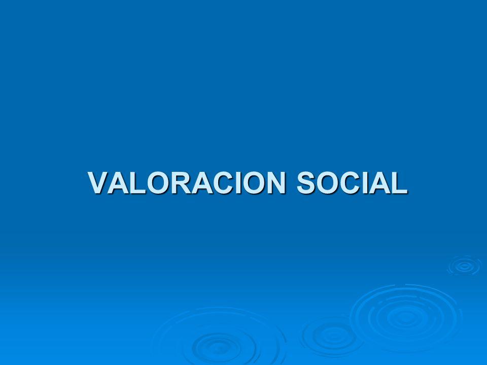 VALORACION SOCIAL