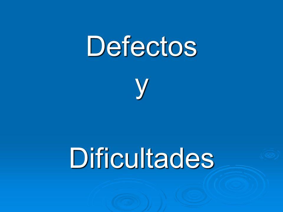 DefectosyDificultades