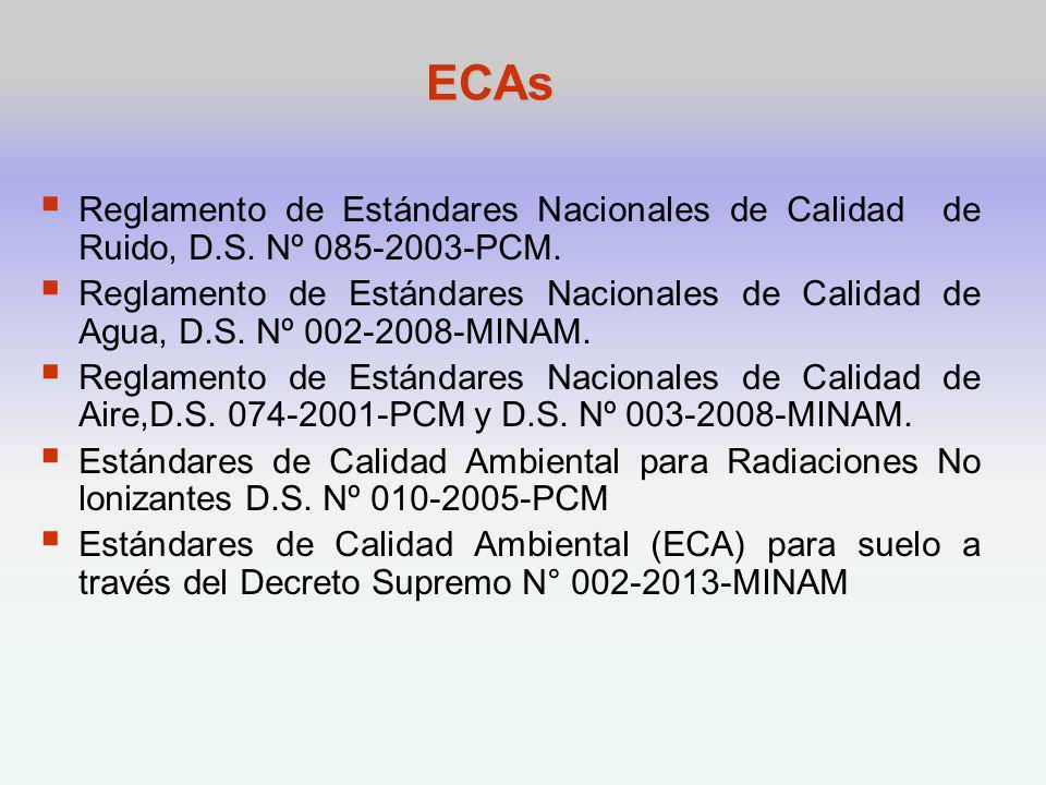 ECAs Reglamento de Estándares Nacionales de Calidad de Ruido, D.S.