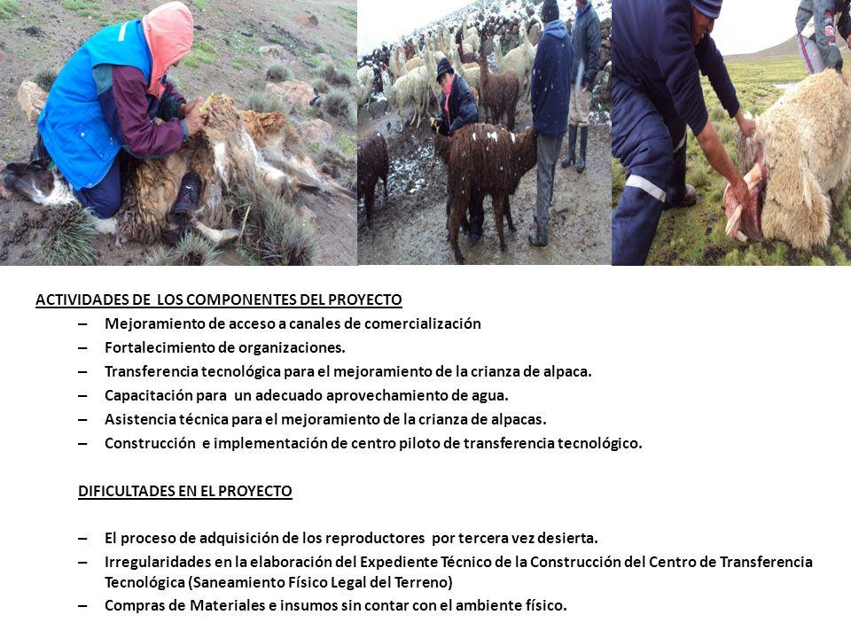 OBJETIVO GENERAL: Incrementar la Productividad de leche en el valle de Moquegua para contribuir a mejorar la calidad de vida de los productores de leche.